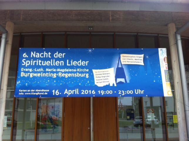 Die 6. Spirituelle Liedernacht Regensburg 2016